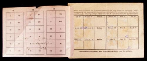 NSDAP Volunteer donations (member) card
