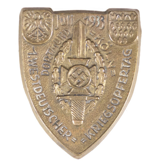 NSKOV 1. Westdeutscher Kriegsopfertag Juli 1933 badge