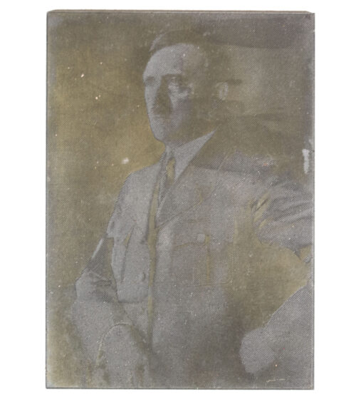 "Original newspaper photo ""Druckplatte"" (printing plate) of Adolf Hitler"