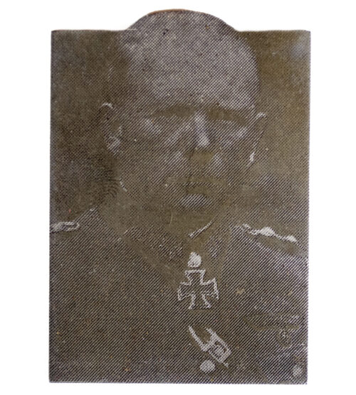"Original newspaper photo ""Druckplatte"" (printing plate) of Heinz Guderian"