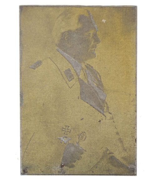 "Original newspaper photo ""Druckplatte"" (printing plate) of Hermann Goerring"