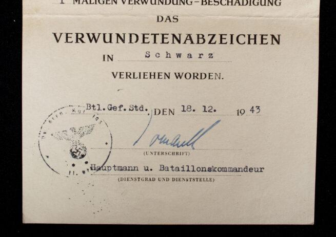 Panzergrenadier group with PKA in bronze, EK2, Ostmedaille, KVK, VWA citations