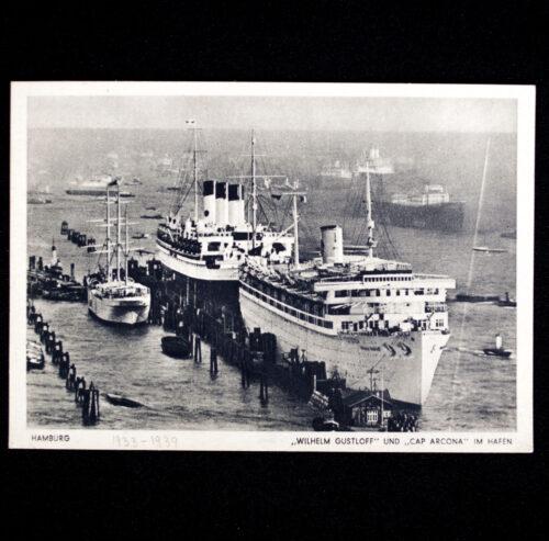 (Postcard) DAFKDF Ships Wilhelm Gustloff und Cap Arcona im Hafen