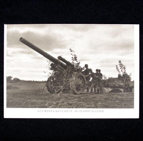 (Postcard) Schweres Geschütz in Feuerstellung
