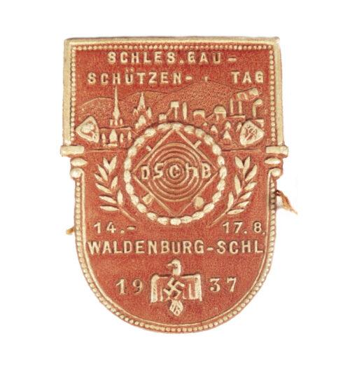 Schles. Gau-Schützen Tag 14.-17.8.1937 Waldenburg-Schlesien (with tag)