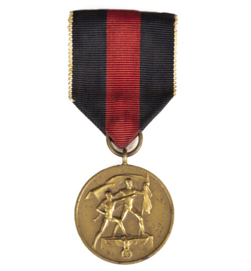 Sudetenland Annexation medal with reverse needle