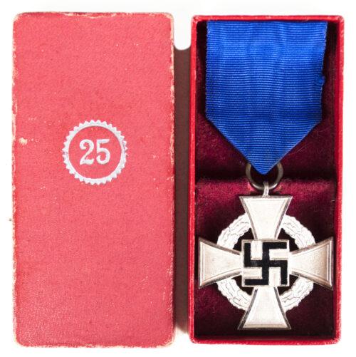 Treue Dienste 25 Jahre Kreuz Loyal Service 25 Years Cross + etui