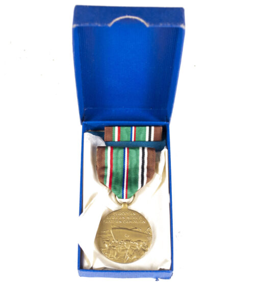 (USA) European, Afrika, Middle Wastern Campaign medal + ribbon +case