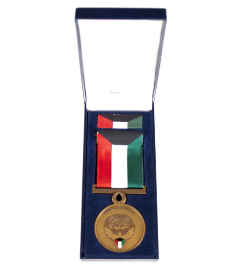 (USA) Kuwait Liberation medal + case + outer carton