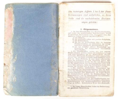 WWI Militär pass