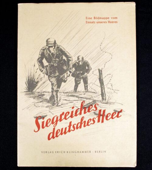 WWII German War Art Portfolio Siegreiches Deutsches Heer Bildmappe (1941) - Complete!!!