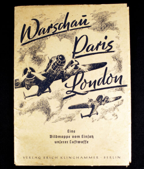 WWII German War Art Portfolio Warschau Paris Londen (194041)