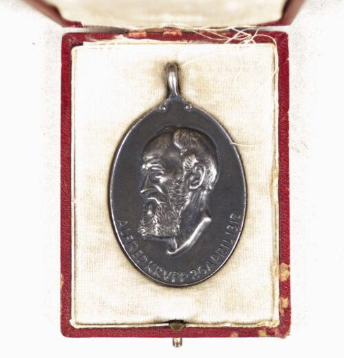 Alfred Krupp medaille zum 100. Geburtstag 1812-1912 + case