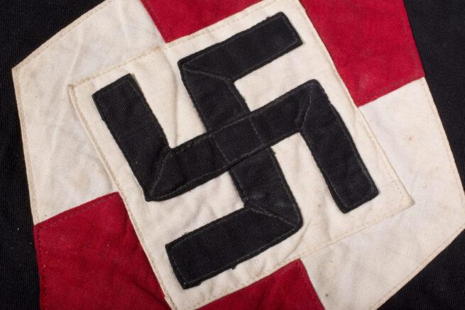 Bund Deutscher Mädel (BDM) Jungmädel Wimpel on original flagpole