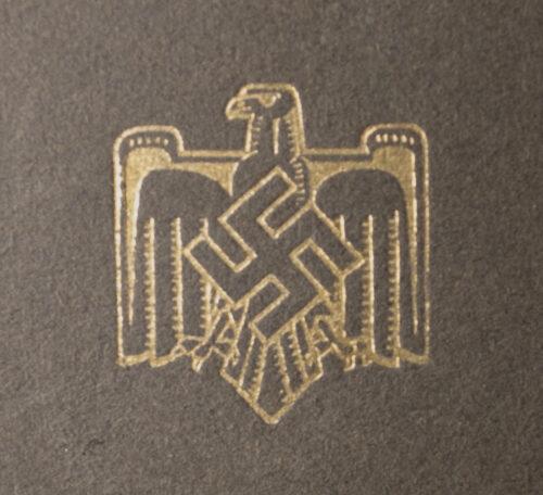 Deutscher Reichsbund für Leibesubungen Urkunde-Heft (1937)