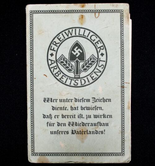 Freiwilliger Arbeitsdienst Arbeitspass + document (1934)