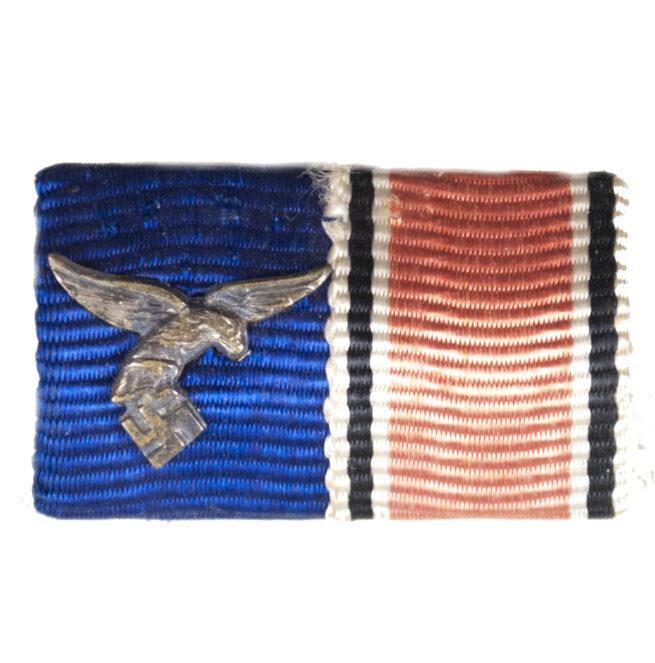 Luftwaffe Feldspange mit Dienstauszeichnung 4 jahre und Anschlussmedaille