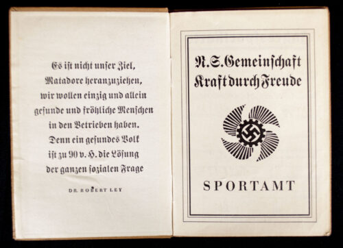 N.S. Gemeinschaft Kraft durch Freude (KDF) - Die Deutsche Arbeitsfront Jahressportkarte pass