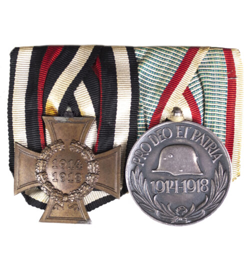 WWI Medalbar NichtKämpfer + Pro deo Et patria medals (Maker GODET!!!!)