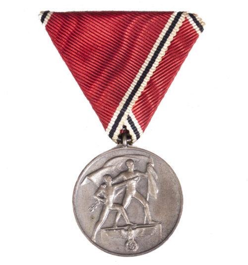 """Anschlussmedaille an """"Dreiecksband"""" / Austria Annexation medal Austrian mount (very rare!)"""