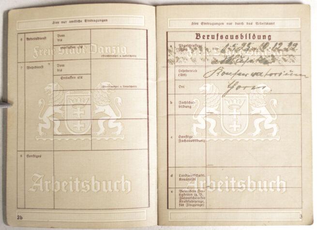 Arbeitsbuch Freie Stadt Danzig (rare!)