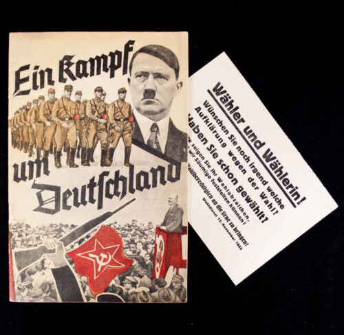 (Brochure) Ein Kampf um Deutschland WITH the extra leaflet! (1933)