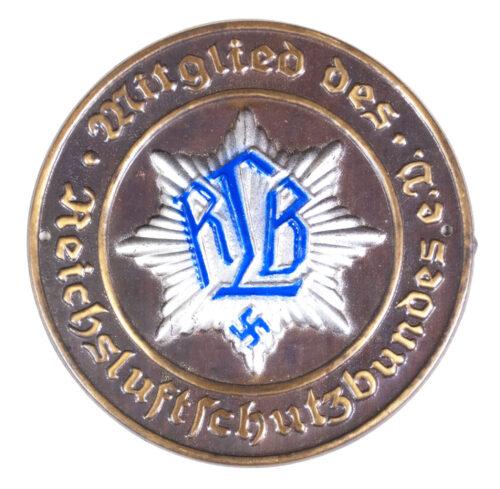 Large metal Türplakette Mitglied des Reichsluftschutzbundes E.V