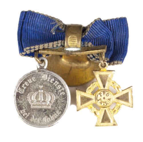 Miniature Dienstauszeichnung 9 Jahre + österreichische Ehrenlegion cross