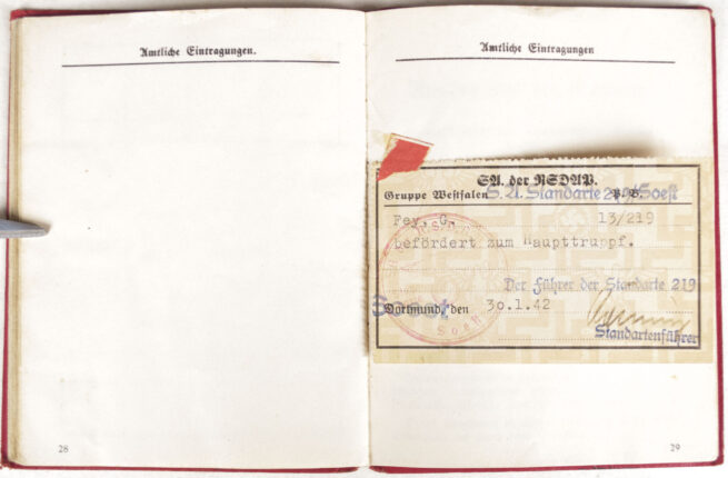 NSDAP Mitgliedsbuch (Memberbooklet) With early style eagle (1934)