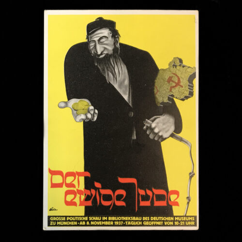 (Postcard) Der Ewige Jude - Grosse Politische Schau im Bilbiotheksbau des Deutschen Museums zu München (1937)