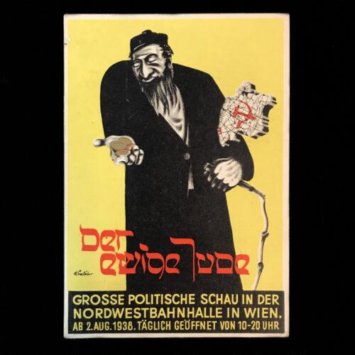 (Postcard) Der Ewige Jude - Grosse Politische Schau in der Nordwwestbahnhalle in Wien (1938)
