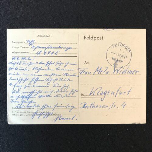 (Postcard) Die Siegeszüge der Division 1939-1940