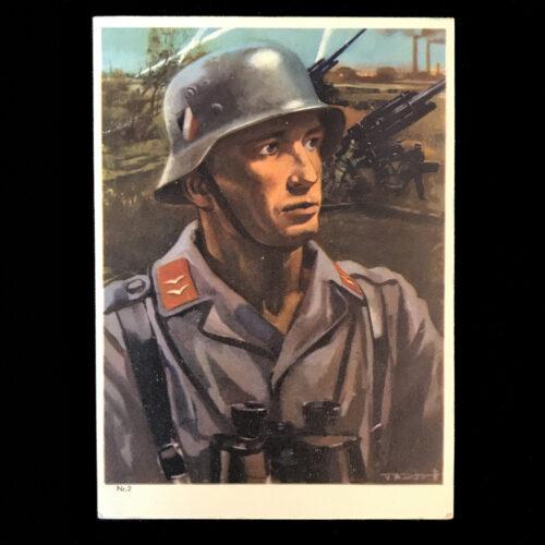 (Postcard) Luftwaffe Flak (postally sent)
