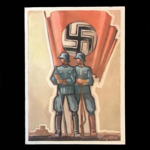 (Postcard) Tag der Deutschen Polizei - Die Ordnungspolizei im Kriegseinsatz SS (1941)