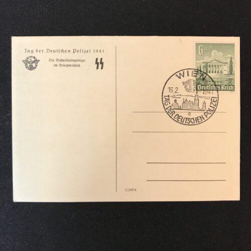 (Postcard) Tag der Deutschen Polizei - Die Sicherheitspolizei im Kriegseinsatz SS (1941)