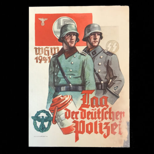 (Postcard) Tag der Deutschen Polizei - Ordnungspolizei & Sicherheitspolizei SS (1941)