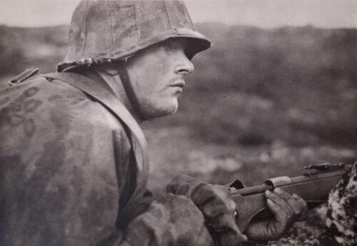 """(Postcard) Waffen-SS - Kampf der SS-Gebirgsdivision """"Nord"""" in Karelien - Der Lapplandkämpfer"""