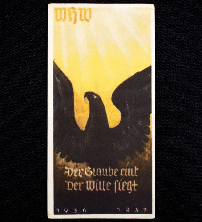 WHW Winterhilfswerk Türplakette Der Glaube eint, der Wille Siegt (193637)