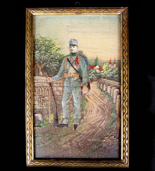 WWI Small painting of an Austrian soldier (19141916) 1