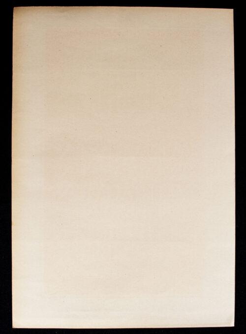 WWII German NSDAP Wochenspruch (propaganda miniposter) – Grossen Zeiträumen