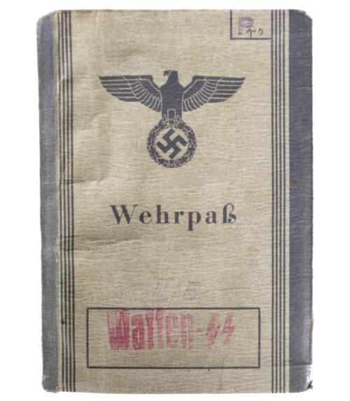 (Waffen SS) Wehrpass Stab III.SS-Totenkopf Pz. Gren. Rgt. Eicke.