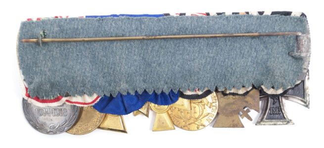 7 Place Police medalbar from a former German South Africa Schutztruppe member