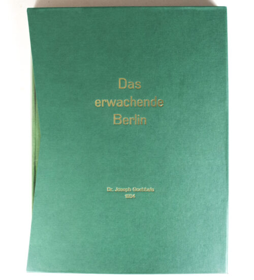 (Book) Joseph Goebbels - Das Erwachende Berlin (1934) - With collectors slipcase