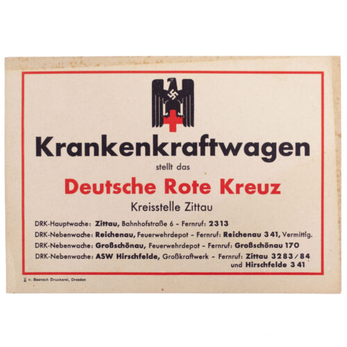 Deutsche Rote Kreuz (DRK) Krankenkraftwagen Kreisstelle Zittau