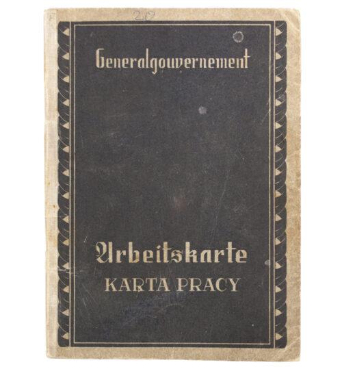 Generalgouvernement Arbeitsbuch Arbeitskarte Karta Pracy - Arbeitsamt Kielce (1941)