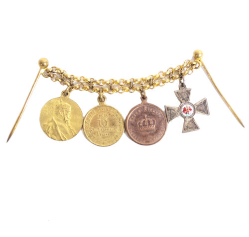 German Imperial Frackkette with Rote Adler Orden, Landwehr Dienstauszeichnung, 1871 Kriegsdenkmünze and Centenary medal