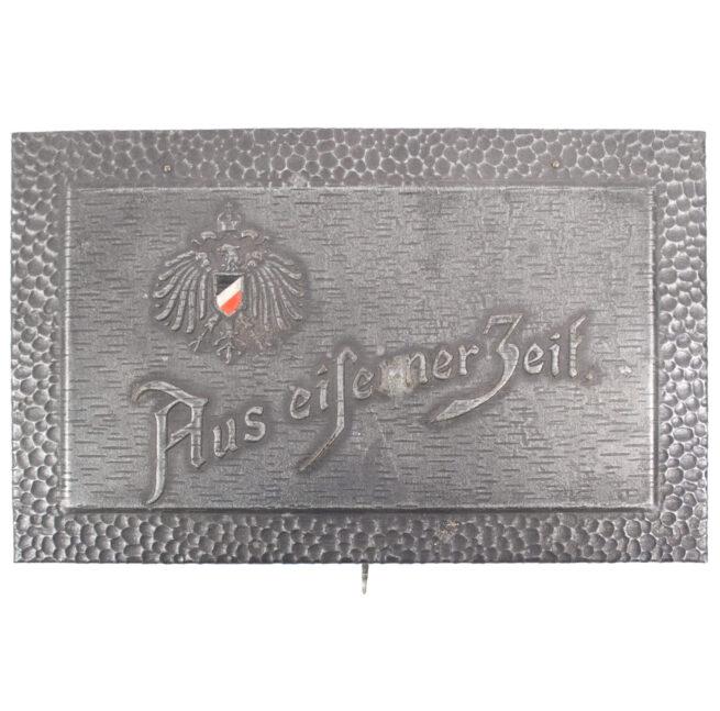 """German WWI patriotic cigarette box """"Aus Eiserner Zeit 1914-1916"""" (small)"""