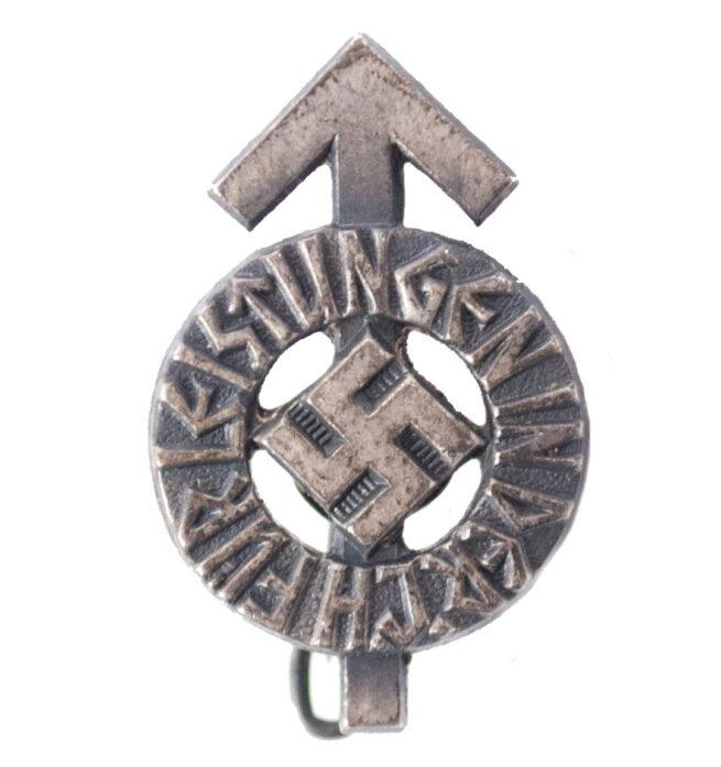 Hitlerjugend (HJ) miniature Leistungdabzeichen in silver (RZM M163)