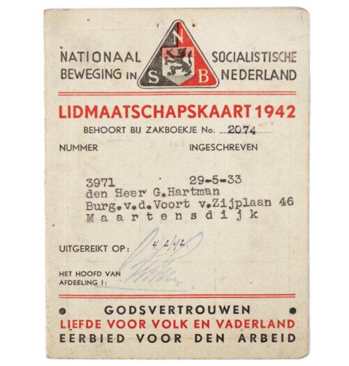 NSB Membercard Lidmaatschapskaart (1942)