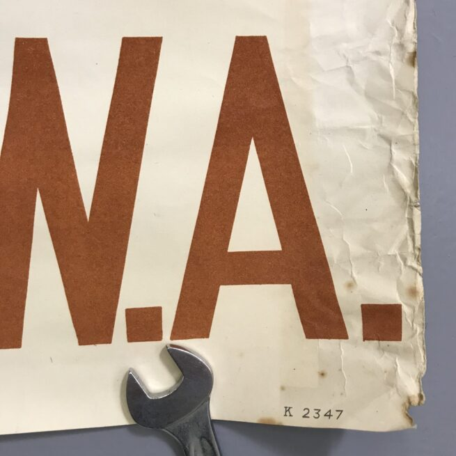 (Poster) NSB - Sluit u aan bij de Luchtvaart WA (Very rare!)
